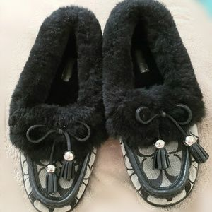 Coach Fiona Signature Shearling Slippers